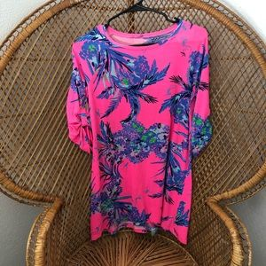 LILLY PULITZER Floral Cotton Dress Size XL 12/14